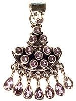 Faceted Amethyst Charming Pendant