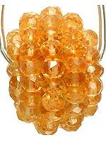 Faceted Beaded Citrine Necklace Center