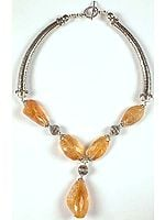Faceted Citrine Choker