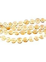 Faceted Citrine Coins