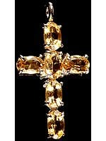 Faceted Citrine Cross