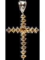 Faceted Citrine Cross Pendant