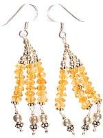Faceted Citrine Shower Earrings