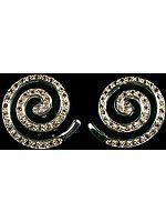 Faceted Citrine Spiral Earrings