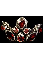 Faceted Garnet Crown Pendant