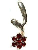 Faceted Garnet Flower Pendant