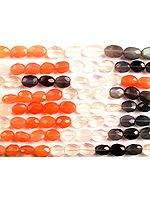 Faceted Multi-Color Moonstone Ovals