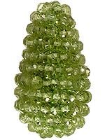 Faceted Peridot Bunch Drum Necklace Center (Price Per Piece)