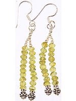 Faceted Peridot Earrings