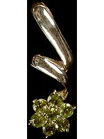 Faceted Peridot Flower Pendant