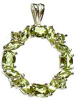 Faceted Peridot Pendant