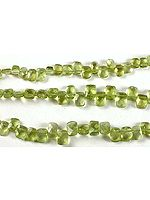 Faceted Peridot Side Drilled Cushions