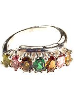 Faceted Tourmaline Finger Ring