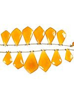 Faceted Yellow Chalcedony Shapes