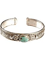 Filigree Bracelet with Central Turquoise