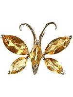 Fine Cut Citrine Butterfly Pendant