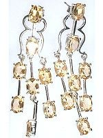 Fine Cut Citrine Post Earrings