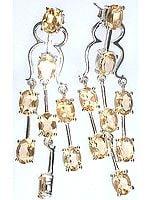 Fine Cut Citrine Post Earrings