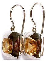 Fine Cut Citrine Superfine Earrings