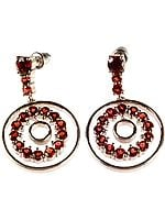 Fine Cut Garnet Chakra Earrings