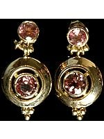 Fine Cut Pink Tourmaline Post Earrings