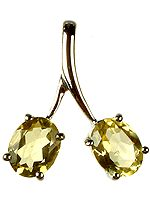 Fine Cut Twin Citrine Pendant
