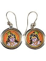 Fluting Krishna Earrings