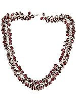 Garnet Bunch Necklace