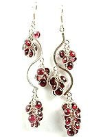 Luscious Garnet Bunch Earrings