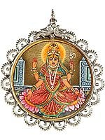 Goddess Bhuvaneshvari (Shakti of the Manifested World) Pendant