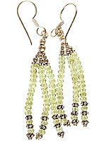 Israel Cut Peridot Beaded Earrings