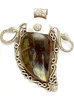 Labradorite Pendant with Serpents