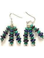 Lapis Lazuli & Turquoise Beaded Earrings