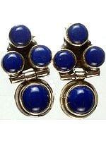 Lapis Lazuli Hinged Earrings