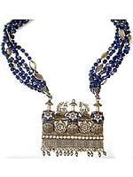Lapis Lazuli Peacock Necklace