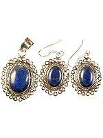 Lapis Lazuli Pendant with Earrings Set