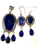 Lapis Lazuli Pendant with Matching Earrings