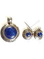 Lapis Lazuli Pendant with Matching Earrings Set