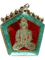 Lord Buddha Inlay Pendant