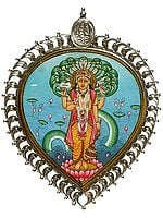 Lord Vishnu Pendant with Shri Ganesha at Apex