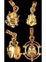 Lot of Four Ganesha Pendants