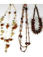 Lot of Three Wooden Beaded Necklaces