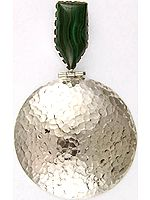 Malachite Dimple Shield Pendant