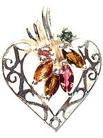 Marquis Tourmaline Valentine Pendant