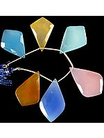 Multi-color Faceted Chalcedony Shapes