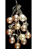 Pearl Bunch Pendant with Cubic Zirconia
