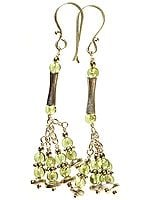 Peridot Jhumka Earrings