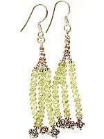 Peridot Shower Earrings