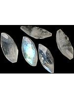Rainbow Moonstone 5 x 10 mm Marquis (Price Per 10 Pcs)
