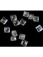Rainbow Moonstone 4 x 4 mm Square (Price Per 6 Pcs)